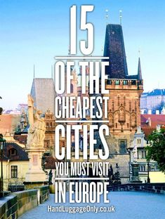 Reisen in Europa - die 15 günstigsten und aufregendesten Hotspots - von Prag bis Riga *** 15 Of The Cheapest Cities In Europe That You Need To Visit! - Hand Luggage Only