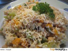 Kuskus s cizrnou recept - TopRecepty. Fried Rice, Quinoa, Fries, Food And Drink, Vegetarian, Ethnic Recipes, Fitness, Diet, Bulgur