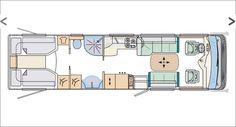 2012 Concorde Liner Plus 940LS A-Class Motorhome Floorplan Layout