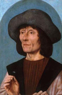 Kwinten Messijs (Matsijs, Quentin Matsys; Flemish,1466-1530): Portrait of a man with a Rose