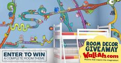Hurry Giveaway ends tonight at midnight....WIN – Wall-Ah! Room Decor Giveaway #247moms