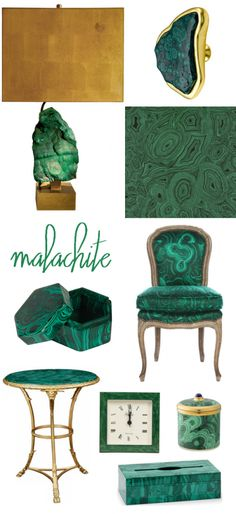 malachite home goods #malachite