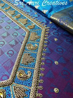 South Indian Blouse Designs, Silk Saree Blouse Designs, Bridal Blouse Designs, Blouse Neck Designs, Hand Work Blouse Design, Aari Work Blouse, Simple Blouse Designs, Chudidhar Neck Designs, Choli Designs