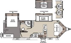 Travel Trailer with a King Bed slide out One of our favorite floor plans There are windows all