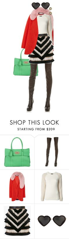 """""""winter sunnies and winter cool..."""" by bananya ❤ liked on Polyvore featuring Mulberry, Maison Margiela, Kaelen, A.P.C., Balmain, Tory Burch and wintersunnies"""