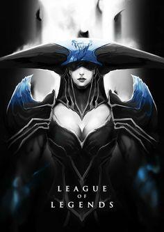 Wallpapers en negro HD de League Of Legends