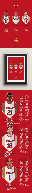 #NBA #players #BULLS #Chicago #vector face Big Men Big 3 #playoffs sport…