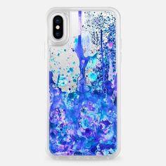Casetify iPhone X Liquid Glitter Case - Dreamy Pastel Paint Splatter II by Organic Saturation #Iphone #iphonexscreenprotector, #iphone10,