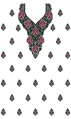 9736 Dress Embroidery Design