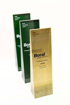 Boral Corporate Awards by aurora design, via Behance Plaque Design, Sign Board Design, Black And Gold Theme, Aurora Design, Trophies And Medals, Corporate Awards, Crystal Awards, Acrylic Awards, Trophy Design