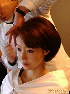Updo Styles, Hair Styles, Japan Woman, Roller Set, Perm, Geisha, Bun Hairstyles, Asian Beauty, Kimono