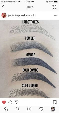 Microblading Eyebrows : What's your favorite brow style? Eyebrow Makeup Tips, Permanent Makeup Eyebrows, Eye Makeup, Eyebrow Pencil, Eyebrow Products, Semi Permanent Lashes, Full Makeup, Eyebrow Tinting, Makeup Application