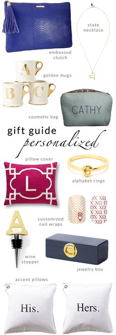 Veeshee Cosmetic Bag featured in Poor Little It Girl's Holiday Gift Guide! #giftguide #monogram