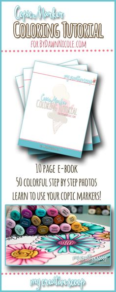 Mother's Day Flowers Copic Tutorial & Free Copic E-Book