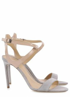 Grey and nude suede sandals - Women