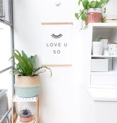 How cute is this print from @meenyminy in this teeny corner of our teeny home? Love and happiness and #shopsmall  by prettytidy_roshnee