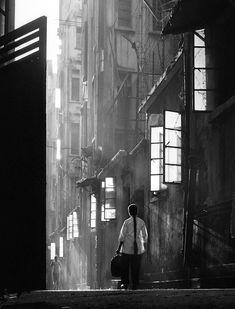 Hong Kong in bianco e nero -Back Lane