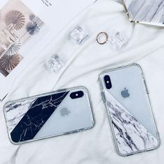 iPhone X Case, iPhone X Case Clear, MOSNOVO Half White Marble Clear Design Printed Transparent Plastic Hard Back Case with Soft TPU Bumper Protective Phone Case Cover for Apple iPhone X #fashion #marble #mosnovo #iphonexcase #iphonexcover #iphone10case #iphone10cover #phonecase
