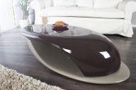 Ława Section brązowa LED ławy połysk włókno szklane - Modo4u