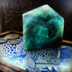 Blue flourite, lost in the deep.