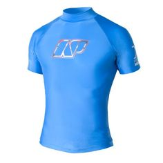 NP Surf Jigsaw Short Sleeve Rashguard Shirt Blue Medium >>> Click image for more details.Note:It is affiliate link to Amazon.