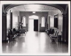 Entrance hall into Trans Allegheny Lunatic Asylum. Still looks the same today