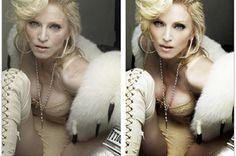 Madonna (skin, boobs, eyes)