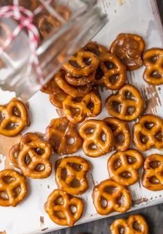 If you're looking for an easy sweet treat, BUTTER TOFFEE PRETZELS are divine! These mini pretzels doused in toffee are simple yet addicting...making them the ultimate holiday snack.
