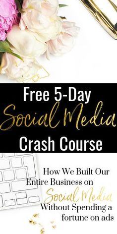 This FREE Social Media Crash Course will teach you how to build your business with social media - without spending a fortune on ads. Plus - get an exclusive invite to join a group filled with support from other business owners. Social Media Calendar, Social Media Trends, Social Media Marketing, Digital Marketing, Marketing Articles, Marketing Ideas, Small Business Marketing, Pinterest Marketing, Join
