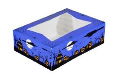 """Southern Champion Tray 2470 Paperboard Halloween Design Print Window Bakery Box, 8"""" Length x 5-3/4"""" Width x 2-1/2"""" Height (Case of 200) by Southern Champion. $65.13. Celebrate in """"spook-tacular"""" style with Southern Champion Tray's new Halloween boxes.  Perfect for cookies, cupcakes and ghoulish treats.  Kids and adults will howl over the goodies in these chilling boxes at school celebrations, costume parties and neighborhood festivals!  These boxes are recyclable..."""