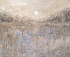 Artist Jenny King  ski mountain oil painting moonlight basin