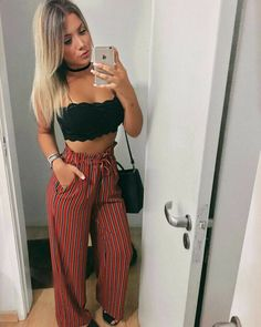 Clothes inspiration summer cute outfits 31 new Ideas New Outfits, Spring Outfits, Trendy Outfits, Fashion Outfits, Womens Fashion, Pantalon Large, Outfit Goals, Look Chic, Feminine Style