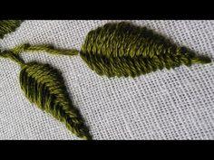 Hand Embroidery Design   Fish Bone Stitch Tutorials   HandiWorks #24 - YouTube