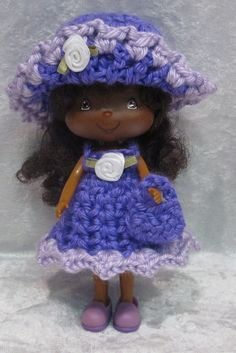Handmade Clothes 4 Your Strawberry Shortcake Dress HAT Purse 3 Berry Grape   eBay
