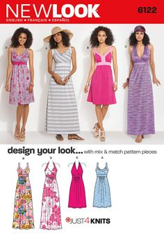 New Look Ladies Easy Sewing Pattern 6122 Jersey Dresses | Sewing | Patterns | Minerva Crafts