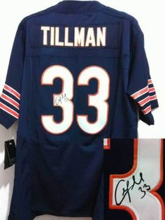 Men s Nike Nfl Chicago Bears  33 Charles Tillman Blue Signed Elite Jersey   22 per piece 9a7a9a1e7