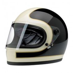 Biltwell Gringo S LE Tracker Helmet Injection-molded ABS outer shell with hand-painted finish Expanded polystyrene inner shell Hand-sewn, removable, brushed Lycra® liner with contrasting diamond-stitched quilted open-cell foam padding In Motorcycle Helmets For Sale, Motorcycle Gear, Biker Helmets, Cafe Racer Casco, Cafe Racer Helmet, Vintage Helmet, Airsoft Helmet, Biltwell Helmet, Custom Helmets