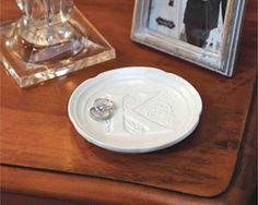 Initial Monogram Plate - Bridesmaid Gifts