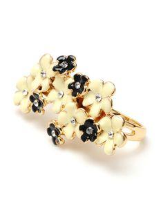 Lucille Flower Cluster Two Finger Ring by Amrita Singh on Gilt.com