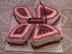Coolest Butterfly Birthday Cake... This website is the Pinterest of birthday cake ideas
