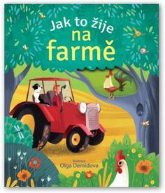 Leporelo, kniha, nejmenší děti, knížka s odklápěcími okénky, život na farmě, život na dvorku, zvířátka z farmy, zvířátka na dvorku.