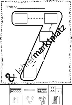 Mathe - Zahlen von 1 bis 9 Arbeitsblätter   Mathe in der Grundschule ...
