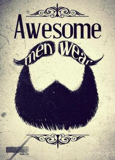 """Awesome men wear beards."" bearded man men beard beards graphic art illustration print #beardsarethebest"