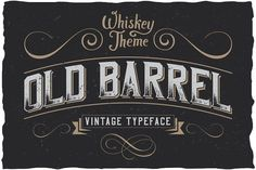 "OldBarrel Vintage Typeface Fonts Here is a classic look label typeface named ""OldBarrel"". It's made in strong and dynamic label style by Vozzy Web Design, Label Design, Logo Design, Graphic Design, Design Blogs, Lettering Design, Vector Design, Design Trends, Design Ideas"