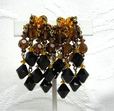 Vintage Black Amber Dripping Waterfall Bead by delightfuljewels, $22.00