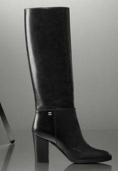 Bottes noires à talon - Chanel - Bottes tendance hiver 2012-2013