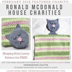 Featured Charity February 2018 - Ronald McDonald House Charities https://oombawkadesigncrochet.com/2018/02/featured-charity-for-february-2018-ronald-mcdonald-house-charities.html