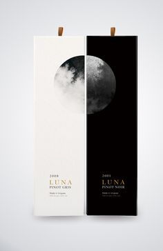 Luna wine packaging by Yu Ping Chuang on Behance Graphisches Design, Wine Design, Label Design, Book Design, Layout Design, Interior Design, Graphic Design Agency, Graphic Design Typography, Graphic Design Inspiration