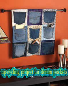 Handy for all the pockets i just cut off all the jeans for a denim rag quilt!