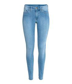 3018f478fbf Light denim blue. 5-pocket jeans in washed stretch denim with a regular  waist